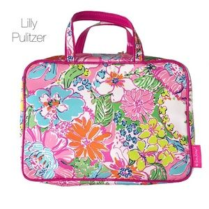 Lilly Pulitzer Nosie Posey Cosmetic Bag Large NEW
